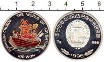 Изображение Монеты Азия Северная Корея 100 вон 1996 Серебро Proof-