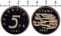 Изображение Монеты Швейцария 5 франков 1981 Медно-никель Proof-