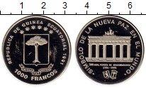 Изображение Монеты Экваториальная Гвинея 1000 франков 1991 Медно-никель UNC 200 лет  Бранденбург