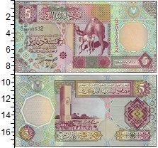 Изображение Банкноты Африка Ливия 5 динар 2002  UNC