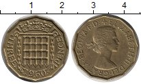 Изображение Монеты Великобритания 3 пенса 1960 Латунь XF