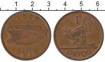 Изображение Монеты Европа Ирландия 1 пенни 1966 Бронза XF