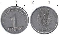 Изображение Монеты Германия ГДР 1 пфенниг 1948 Алюминий XF