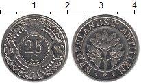 Изображение Монеты Нидерланды Антильские острова 25 центов 1991 Медно-никель UNC-