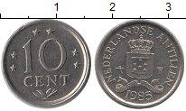Изображение Монеты Антильские острова 10 центов 1985 Медно-никель UNC-