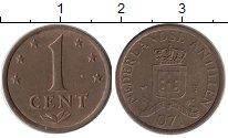 Изображение Монеты Антильские острова 1 цент 1971 Бронза XF
