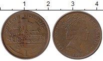Изображение Монеты Остров Мэн 1 пенни 1989 Бронза XF