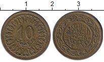 Изображение Монеты Африка Тунис 10 миллим 1960 Латунь XF