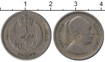 Изображение Монеты Ливия 1 пиастр 1952 Медно-никель XF- Идрис I