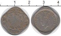 Изображение Монеты Азия Индия 1/2 анны 1946 Медно-никель VF