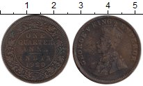 Изображение Монеты Азия Индия 1/4 анны 1920 Бронза VF