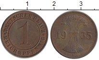 Изображение Монеты Германия Веймарская республика 1 пфенниг 1935 Бронза XF