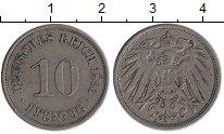 Изображение Монеты Европа Германия 10 пфеннигов 1893 Медно-никель XF