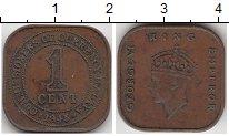 Изображение Монеты Великобритания Малайя 1 цент 1945 Бронза XF