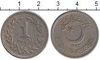 Изображение Монеты Пакистан 1 рупия 1987 Медно-никель XF