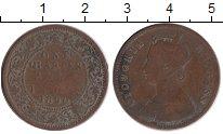 Изображение Монеты Азия Индия 1/4 анны 1890 Медь VF