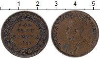 Изображение Монеты Северная Америка Канада 1 цент 1917 Бронза VF