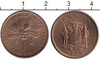 Изображение Монеты Северная Америка Ямайка 1 цент 1974 Бронза UNC-