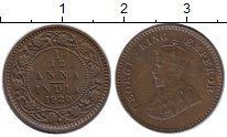 Изображение Монеты Азия Индия 1/12 анны 1920 Бронза XF