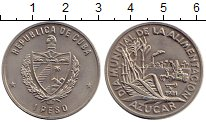 Изображение Монеты Куба 1 песо 1981 Медно-никель UNC- Уборка сахарного  тр