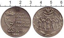 Изображение Монеты Андорра 25 сантим 1995 Медно-никель UNC