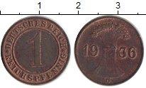 Изображение Монеты Германия Веймарская республика 1 пфенниг 1936 Бронза XF
