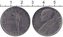Изображение Монеты Ватикан 100 лир 1956 Сталь XF