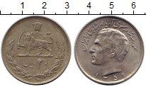 Изображение Монеты Азия Иран 20 риалов 1975 Медно-никель XF