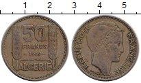 Изображение Монеты Алжир 50 франков 1949 Медно-никель XF Протекторат  Франции