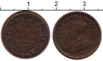 Изображение Монеты Индия 1/12 анны 1916 Бронза VF Георг V