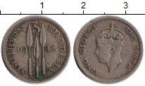 Изображение Монеты Великобритания Родезия 3 пенса 1948 Медно-никель XF-