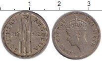 Изображение Монеты Великобритания Родезия 3 пенса 1952 Медно-никель VF