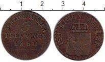 Изображение Монеты Германия Пруссия 3 пфеннига 1850 Медь VF