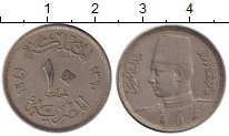 Изображение Монеты Африка Египет 10 миллим 1941 Медно-никель XF