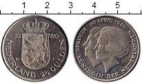 Изображение Монеты Европа Нидерланды 2 1/2 гульдена 1980 Медно-никель UNC-