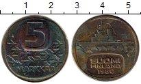 Изображение Монеты Финляндия 5 марок 1980 Латунь XF-