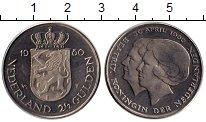 Изображение Монеты Нидерланды 2 1/2 гульдена 1980 Медно-никель UNC-