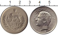 Изображение Монеты Азия Иран 10 риалов 1974 Медно-никель XF