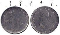 Изображение Монеты Ватикан 100 лир 1961 Сталь XF