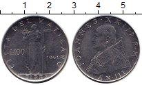 Изображение Монеты Ватикан 100 лир 1961 Сталь XF+