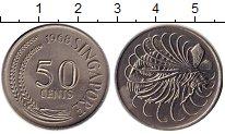 Изображение Монеты Азия Сингапур 50 центов 1968 Медно-никель UNC-