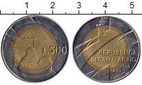 Изображение Монеты Сан-Марино 500 лир 1990 Биметалл UNC-