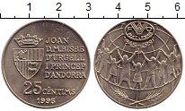 Изображение Монеты Европа Андорра 25 сантим 1995 Медно-никель UNC