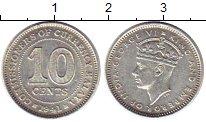 Изображение Монеты Малайя 10 центов 1941 Серебро XF