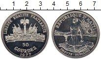 Изображение Монеты Северная Америка Гаити 50 гурдес 1977 Серебро UNC