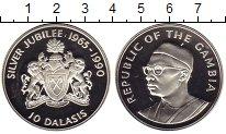 Изображение Монеты Африка Гамбия 10 даласи 1990 Серебро Proof