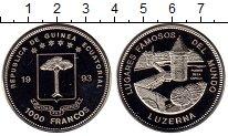 Изображение Монеты Экваториальная Гвинея 1000 франков 1993 Медно-никель UNC Мост в Люцерне