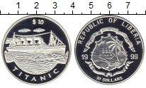 Изображение Монеты Африка Либерия 10 долларов 1999 Серебро Proof