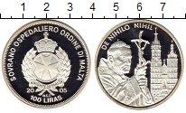 Изображение Монеты Европа Мальтийский орден 100 лир 2005 Серебро Proof-