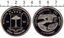 Изображение Монеты Экваториальная Гвинея 1000 франков 1993 Медно-никель UNC